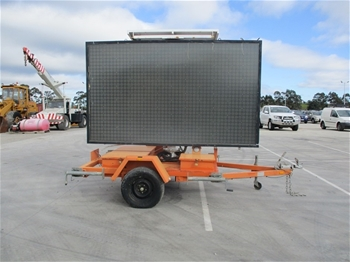 Solar Sign Board Trailer