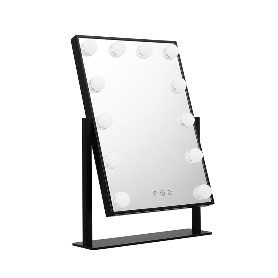 Embellir LED Standing Makeup Mirror - Black