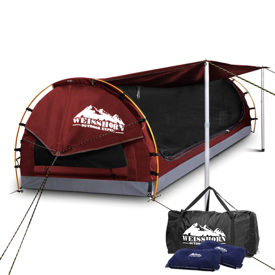 Weisshorn Double Size Dome Canvas Tent - Red