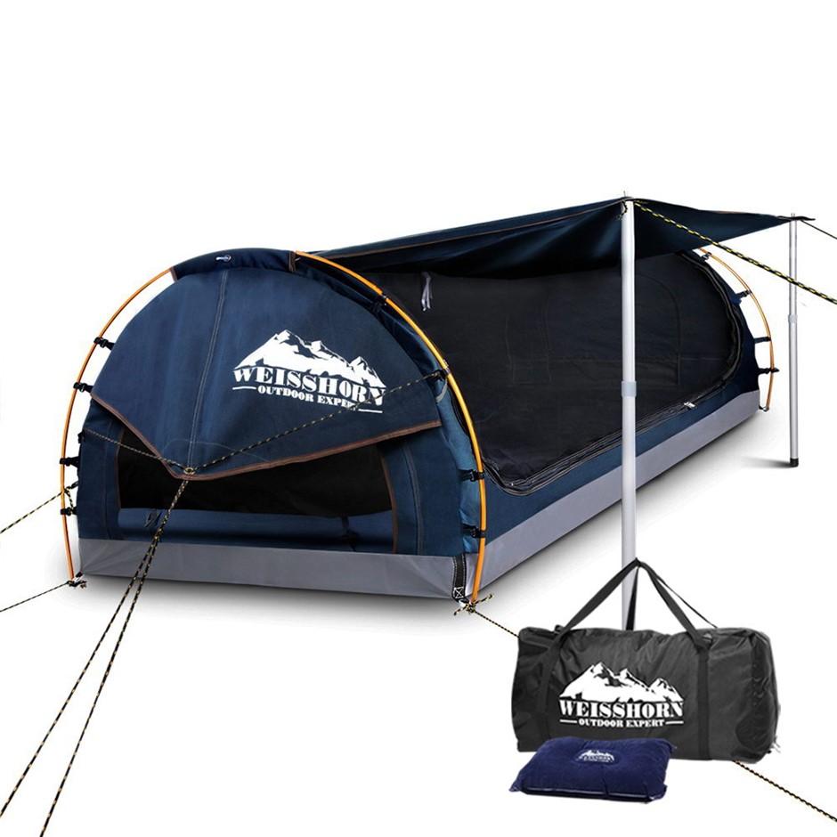 WEISSHORN King Single Camping Swag Mattress Dark blue