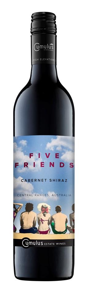 Five Friends Cabernet Shiraz 2016 (12 x 750mL) Central Ranges, NSW