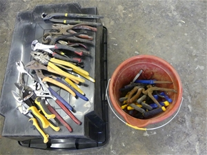 Qty Assorted x Pliers, Grips and Cutters