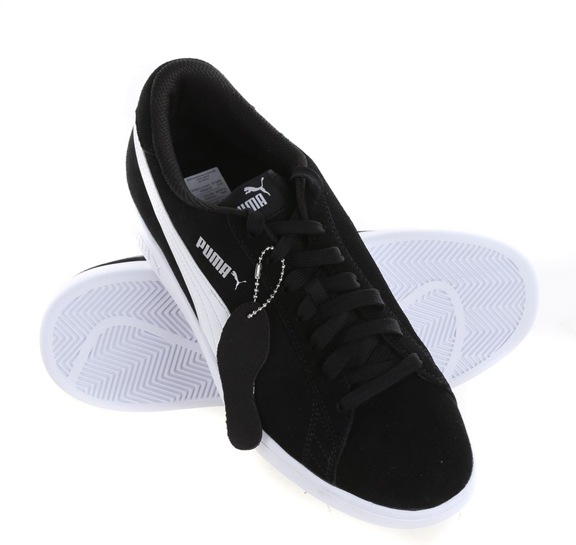 PUMA Men`s Soft Foam Smash V2 Sports Shoes, UK Size 10, Black w/ White. Buy