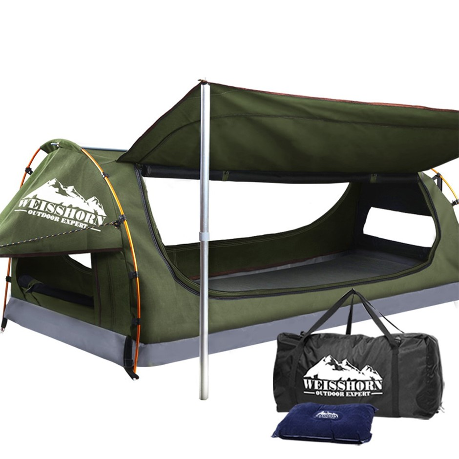Weisshorn King Single Size Dome Canvas Tent - Celadon