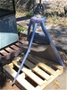1x Record Pipe Clamp on metal Stand