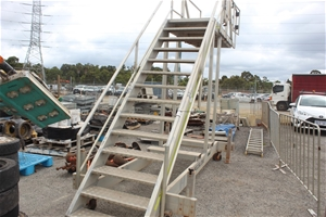 Accumax Aluminium Mobile Stairs with Lan