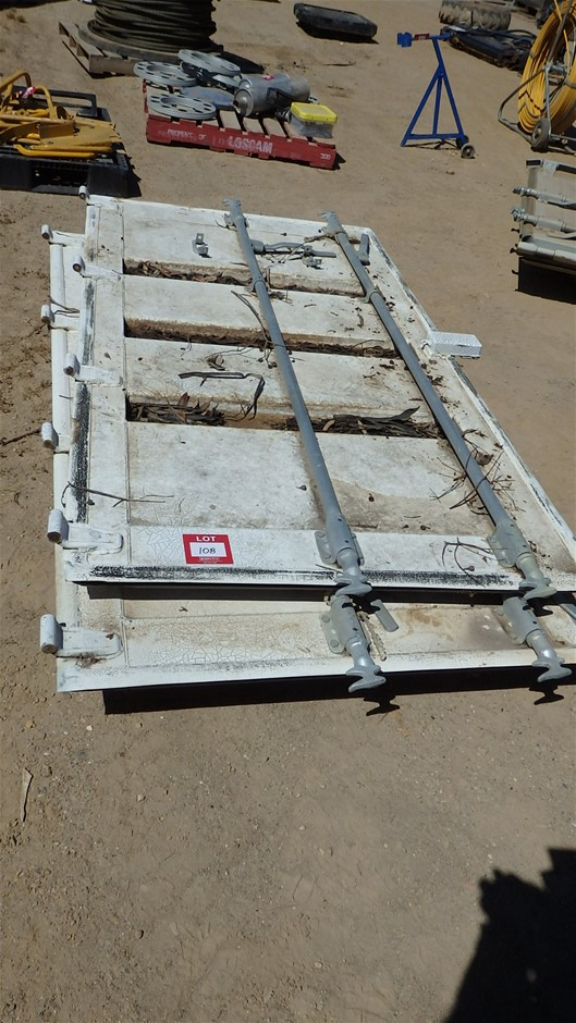 Qty 2x Shipping Container Door