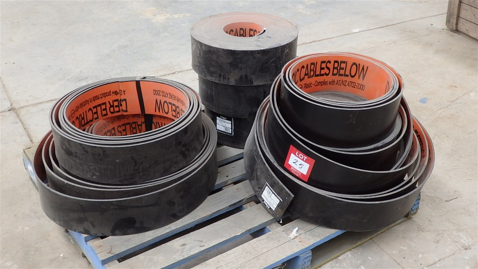 Pallet Comprising Rolls of Tapex Orange/Black Electrical Cover