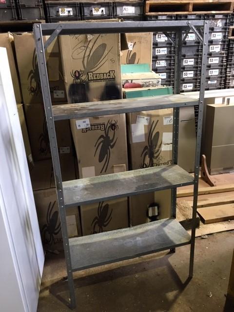 Steel Framed Shelf Unit with Adjustable Shelves