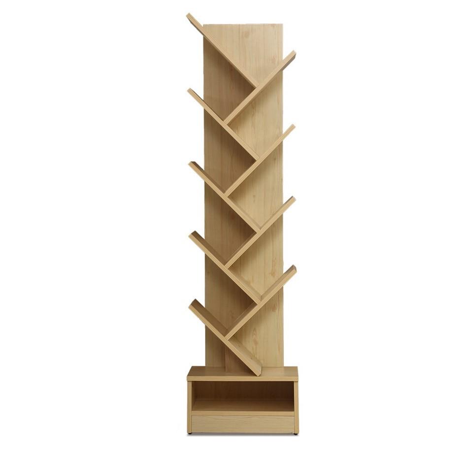 Artiss Display Shelf 9-Shelf Tree Bookshelf Book Storage Rack Natural