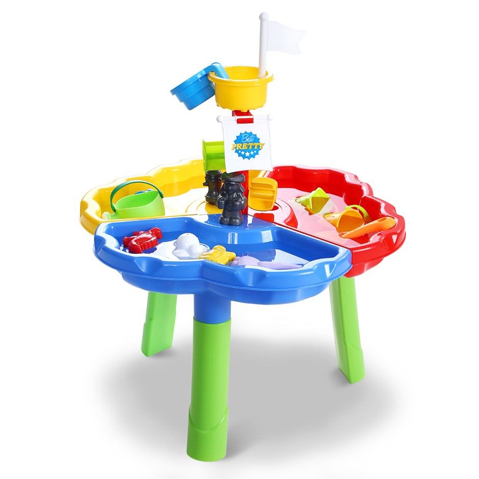 Keezi Kids Beach Sand and Water Sandpit Outdoor Table Childrens Bath Toys