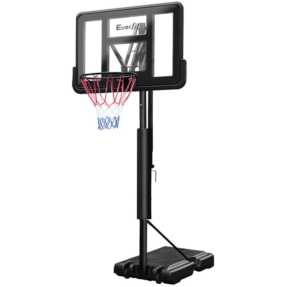 Everfit 3.05M Basketball Hoop Stand Ring Portable Height Adjustable Black