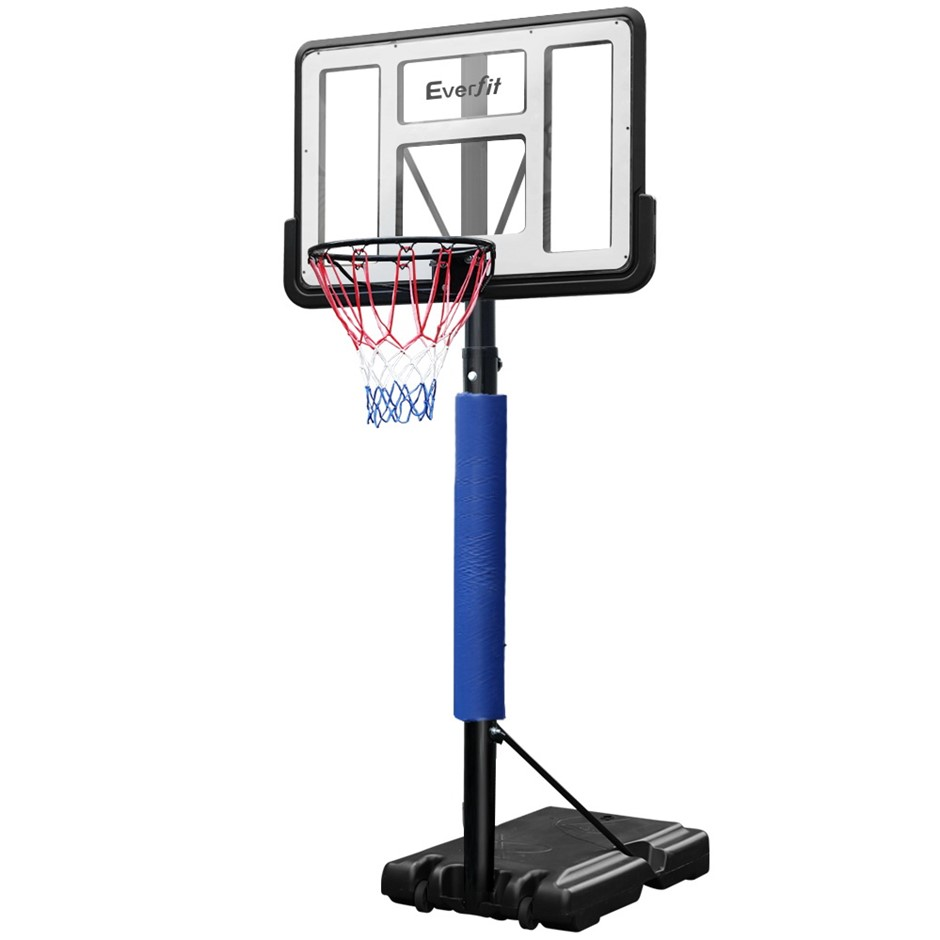 Everfit 3.05M Basketball Hoop Stand Ring Portable Height Adjustable Blue
