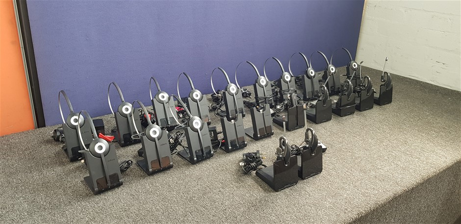 Bulk Lot Of Assorted Wireless Headsets