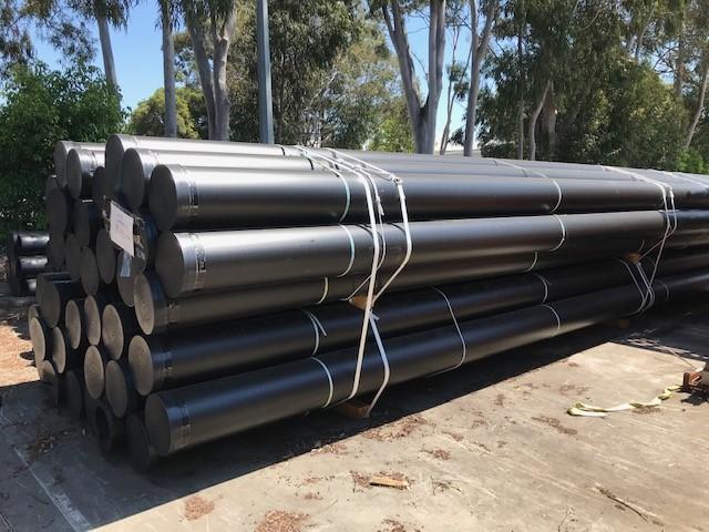 Bundle of 9 x Lengths Black HPDE Pipe