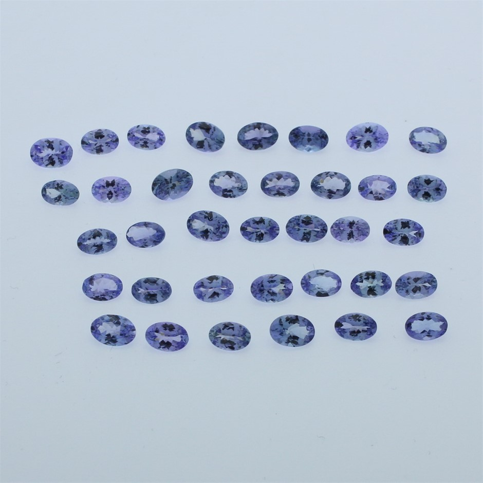 Thirty Six Loose Tanzanite 17.35ct in Total