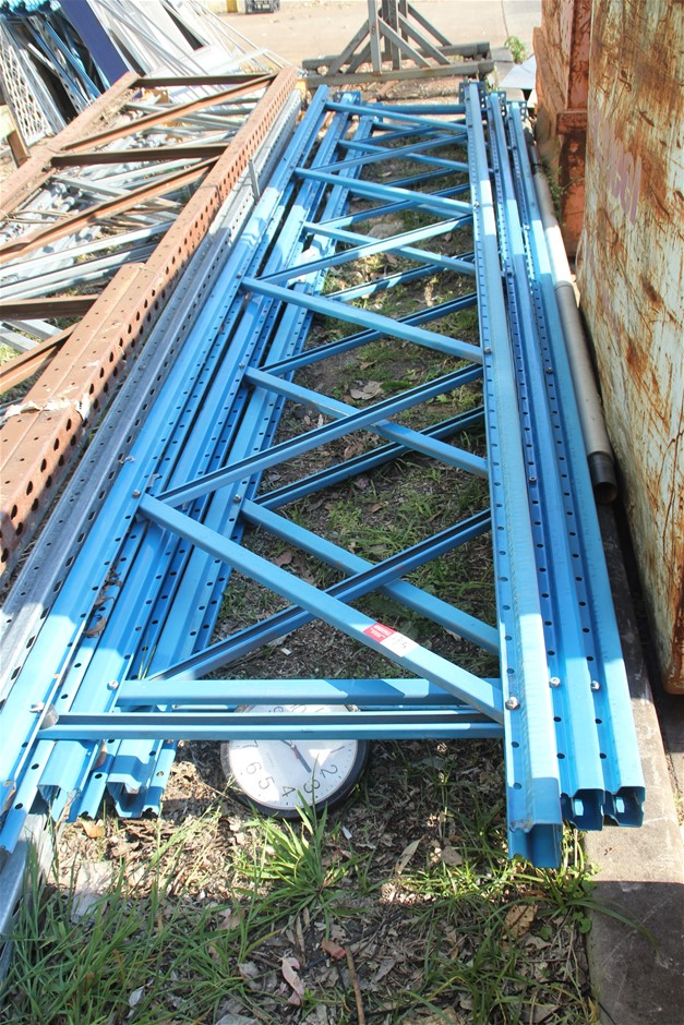3 x Dexion Pallet Racking End Frames Approx: 3 x 4800mm x 840mm