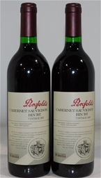 Penfolds `Bin 707` Cabernet Sauvignon 1997 (2x 750ml), SA .