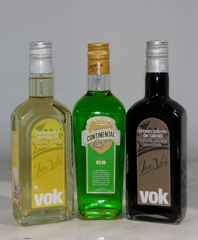 Pack of Assorted Liqueurs (3x 500ml)