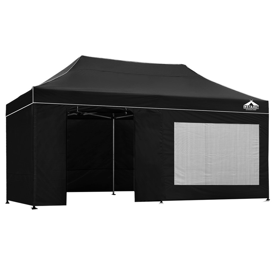 Instahut Aluminium Pop Up Gazebo Marquee Tent Canopy Party 3x6m