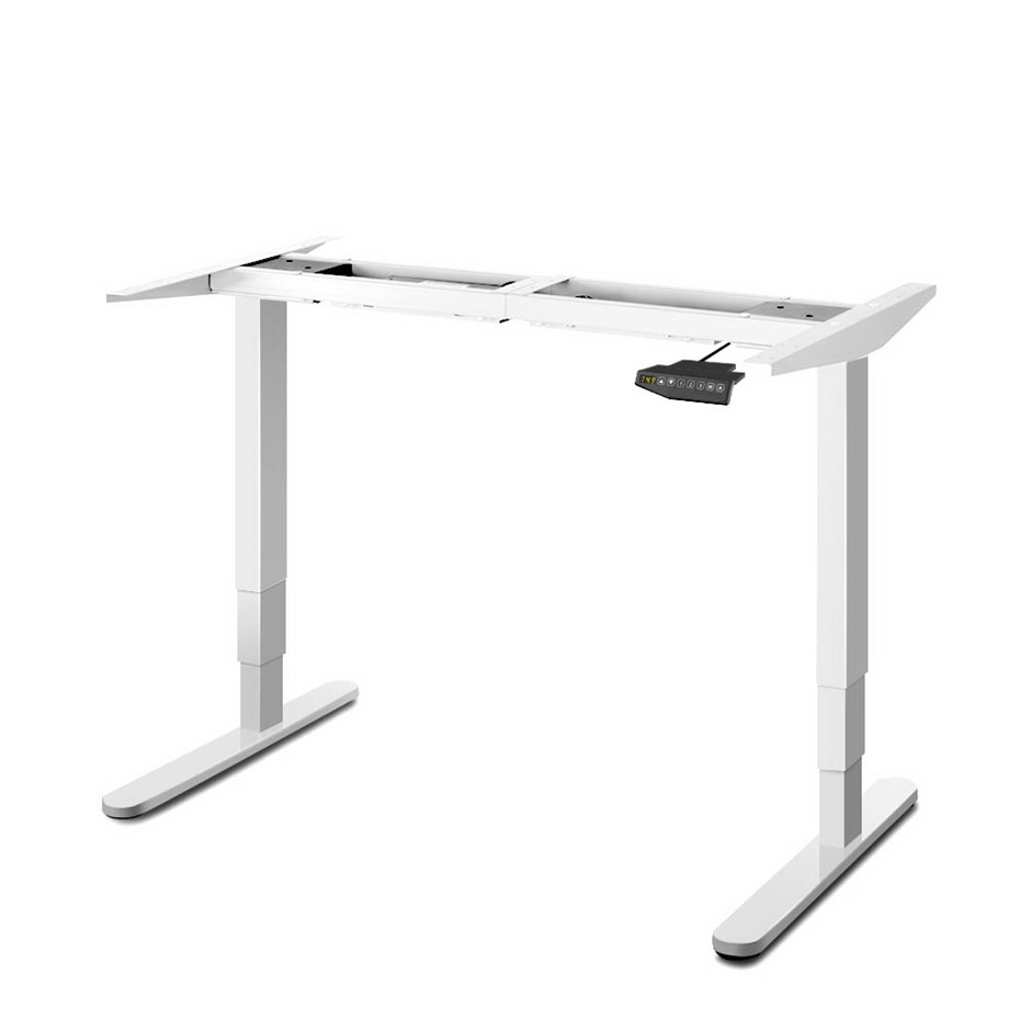 Artiss Motorised Standing Desk - White