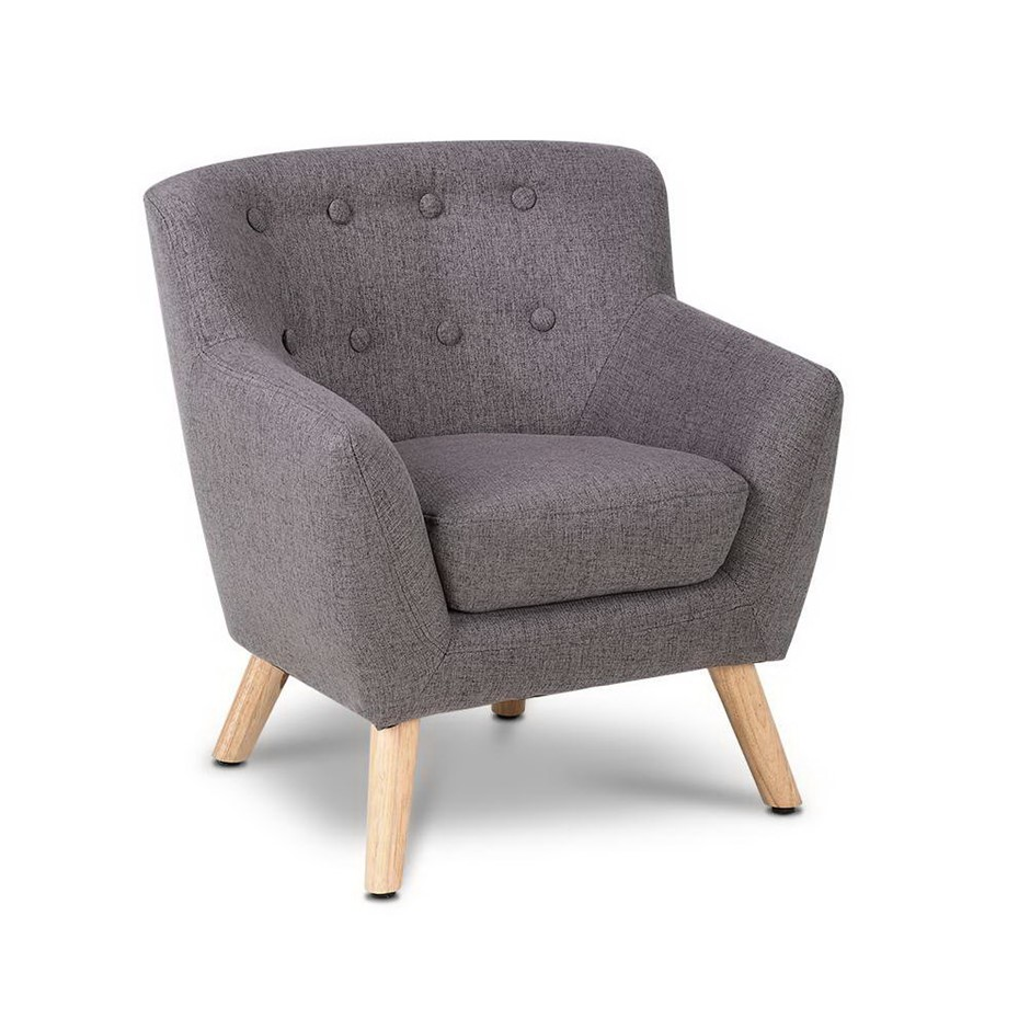 Keezi Kids Sofa Armchair Fabric Wooden Lorraine French Couch Children Room