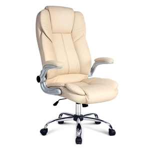 PU Leather Executive Office Chair - Beig