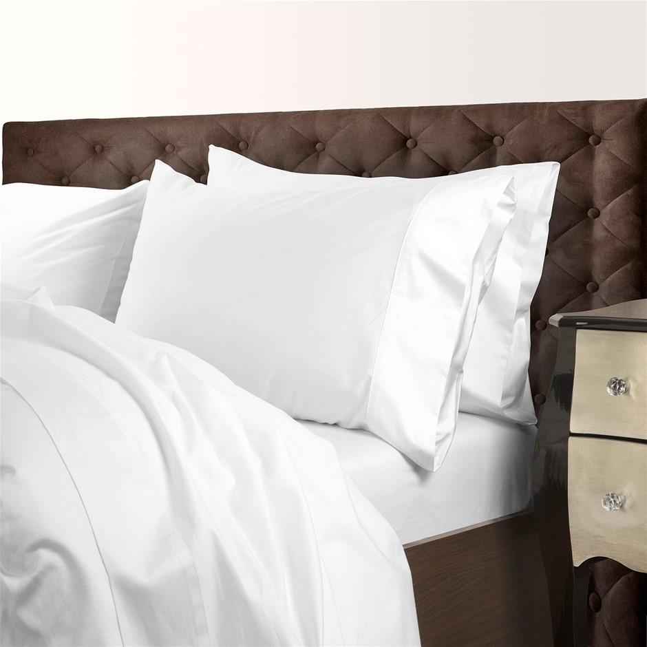Royal Comfort 1000TC Cotton Blend Quilt Cover Sets Queen - White