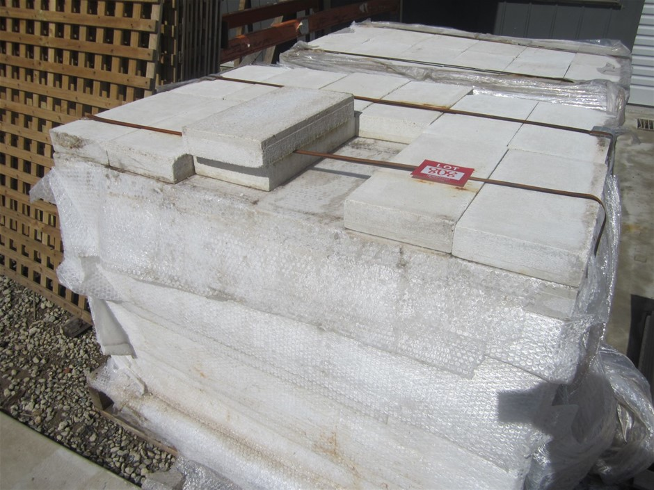 Pallet of concrete pavers. 156 pavers in total.