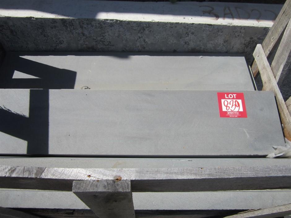 Stillage of approximately 16 Bluestone Steps. 1120mm x 245mm x 40mm