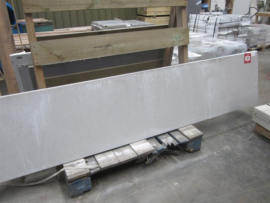 Caesarstone benchtop. Ash Grey polished. 3040mm x 571mm x 20mm thick.