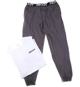 DKNY Men`s Sleepwear Set (Cotton Pants &