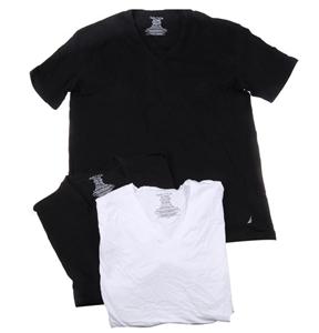 NAUTICA Men`s 3pk Stretch V-Neck T-Shirt