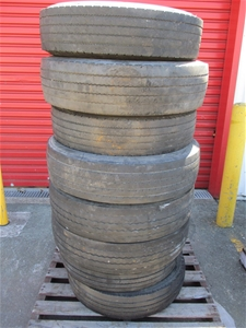 Qty 8 x Assorted Truck Tyres