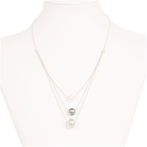 Three Colour Freshwater Pearl Necklace O
