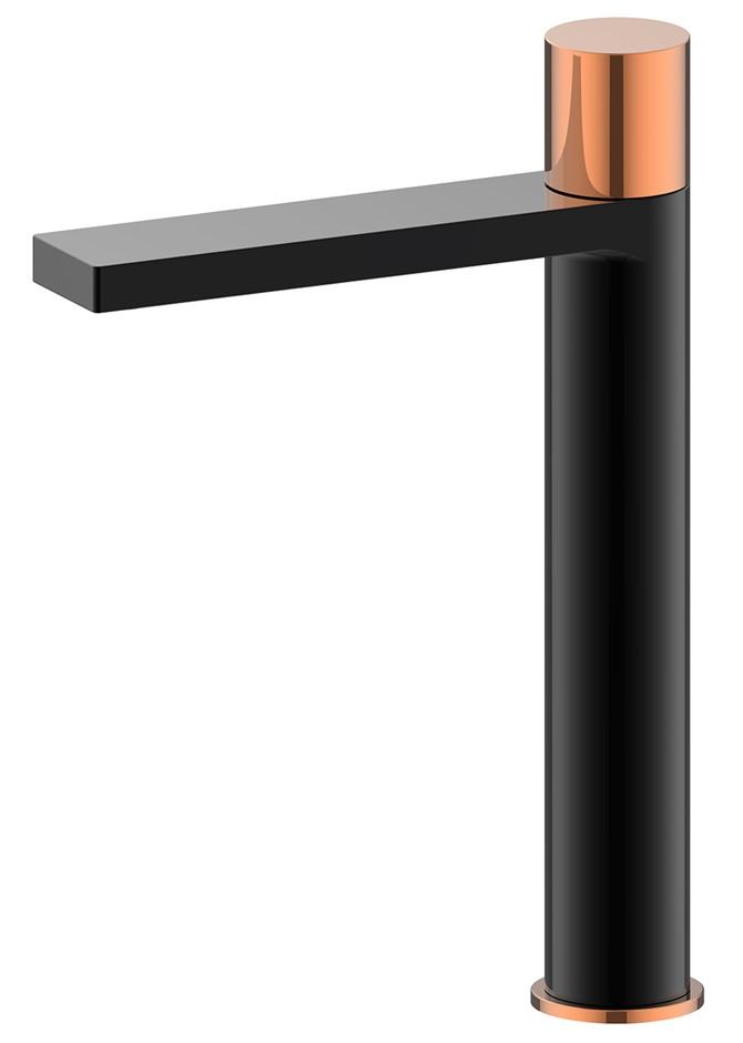Brand New Matte Black/Rose Gold Tall Basin Mixer