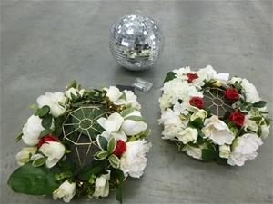 Flower Ornaments & Disco Ball