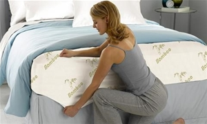 Bamboo Fitted Sheet Mattress Topper Prot