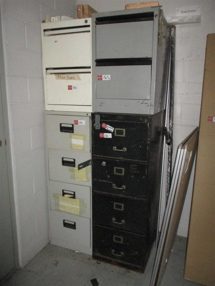 4 x Metal Filing Cabinets