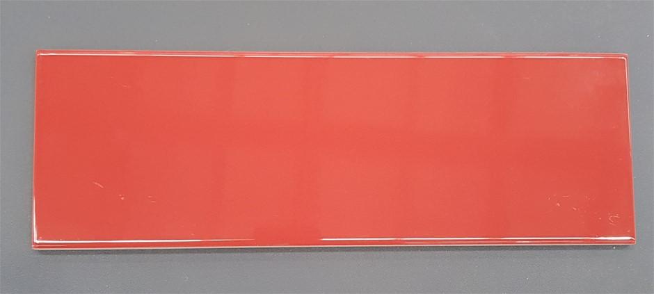 Marazzi Architettura MJOG Rosso 10x30cm Gloss Ceramic Subway Tiles, 10.8m²