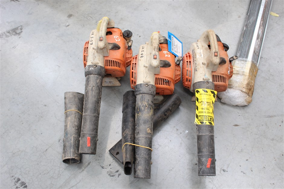3x Stihl Petrol Powered Blowers