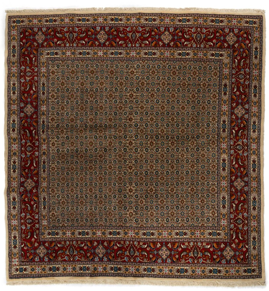 Persian Mood Fine Quality Hand Knotted Pure Wool Pile Size (cm): 201 x 206
