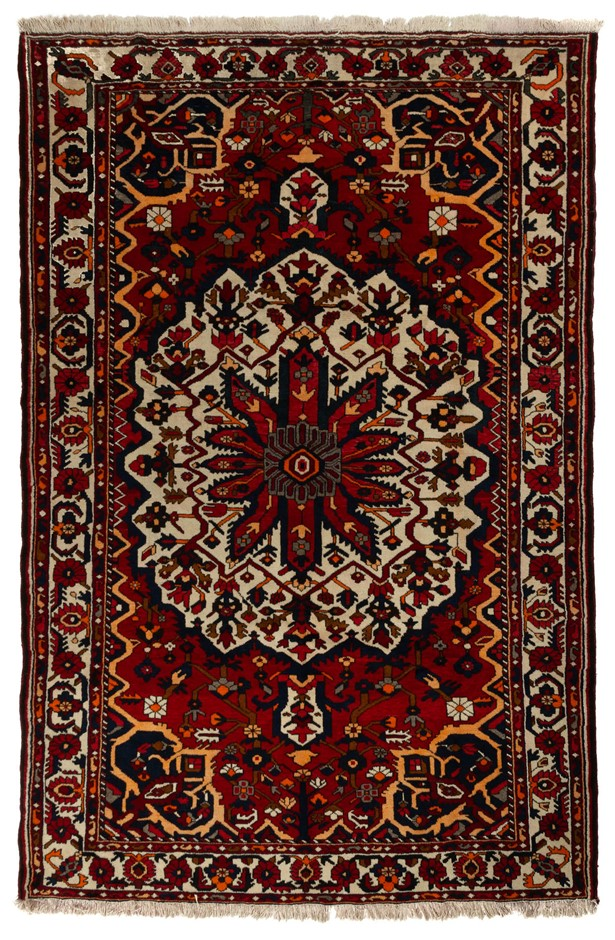Persian Baktiari Hand Knotted 100% Pure Wool Pile Size (cm): 210 x 318