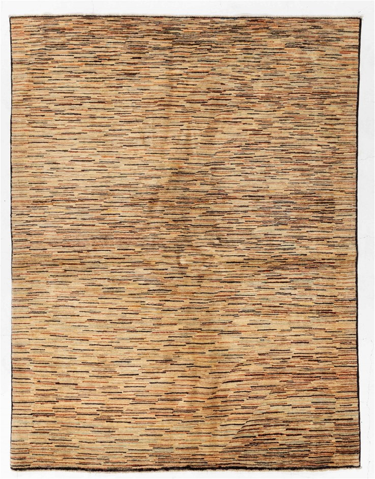 Afghan Gabbeh Stripy Hand Knotted Pure Wool Pile Size (cm): 175 x 229