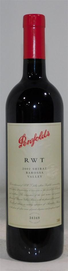 Penfolds `RWT` Shiraz 2002 (1x 750mL) Barossa Valley, SA.