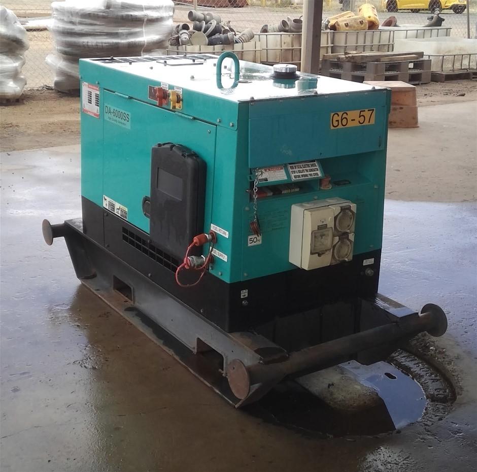 2012 Denyo DA6000SS 6kVA Diesel Generator - Chinchilla