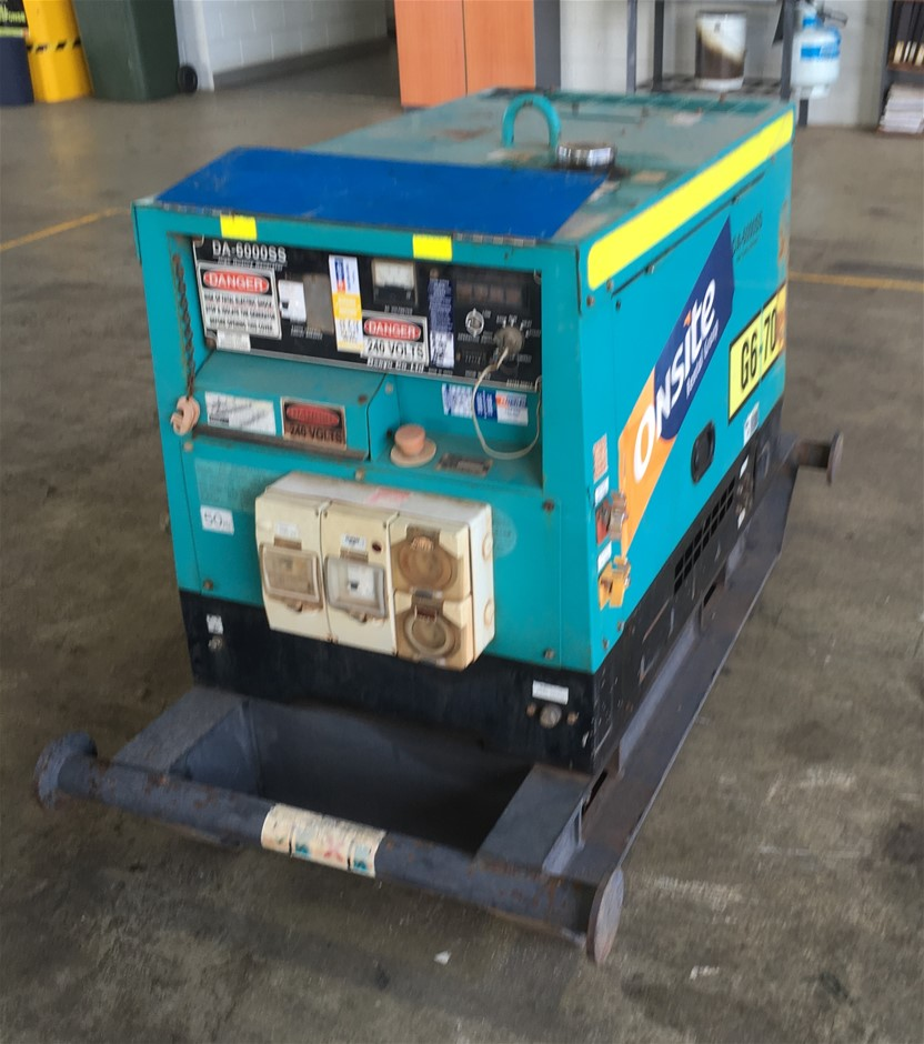 2012 Denyo DA6000SS 6KVA Diesel Generator