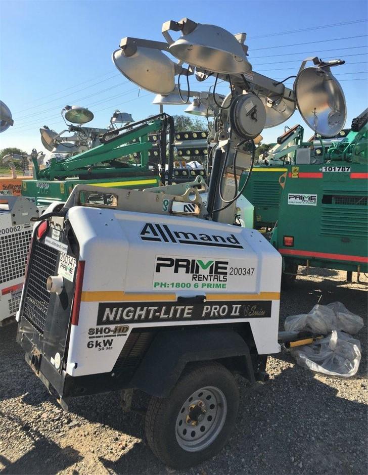 2012 Allmand Nite-Lite Pro II 5000W Diesel Lighting Tower - Brisbane