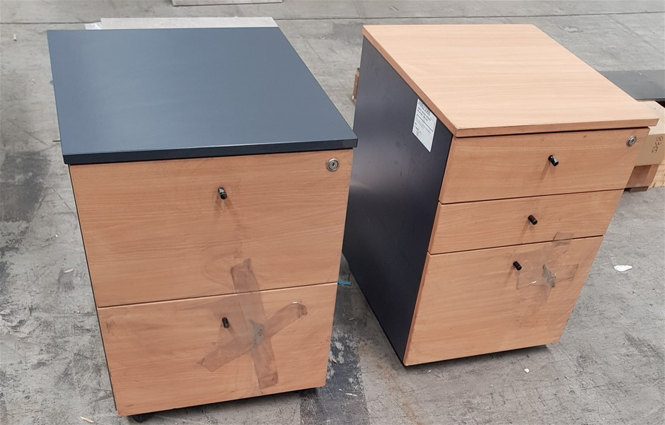 Qty 2 x Underdesk Filing Cabinets, 470x560x615