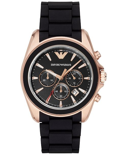 New Emporio Armani Sportivo chronograph Black men's watch